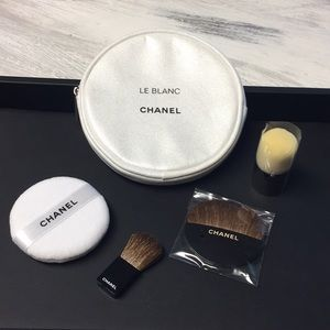 Chanel Makeup Bag And Brush Set